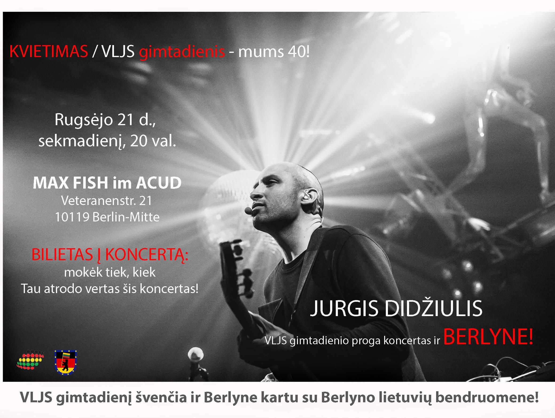 JURGIO DIDŽIULIO koncertas Berlyne!!!
