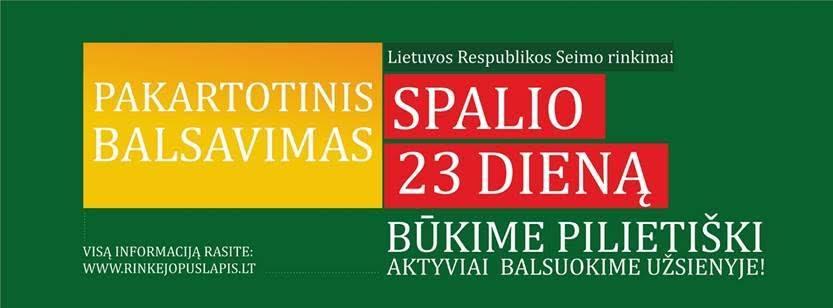 Pakartotiniai rinkimai spalio 23 d.